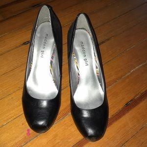 Madden Girl black heels.